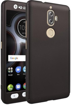 Coverage Back Cover for Lenovo K8 Plus(Black, Plastic, Rubber)