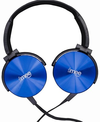 iMee ROCK STAR On-Ear EXTRA BASS Light Weight Headphones (Blue) Wired Headphone(Blue, Over the Ear)