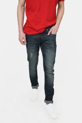 Basics Slim Men Dark Blue Jeans