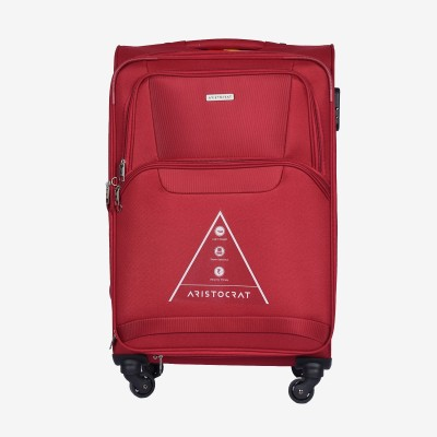 Aristocrat Amber 79 cm Polyester Trolley (Red) Expandable  Check-in Luggage - 34 inch(Red) at flipkart