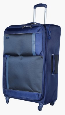 VIP Pulse Spinner Soft Trolley 81 cm (Blue) Expandable  Check-in Luggage - 37 inch(Blue)
