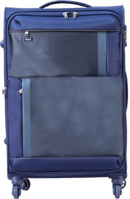 VIP Pulse Spinner Soft Trolley 69 cm (Blue) Expandable  Check-in Luggage - 32 inch(Blue)