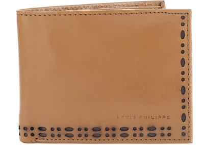 Louis Philippe Men Tan Genuine Leather Wallet(4 Card Slots) at flipkart