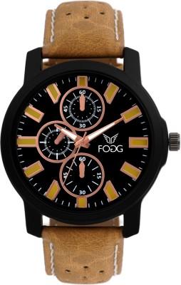 Fogg 1057-BK BR Modish Analog Watch For Men
