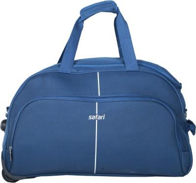 Safari Pulse Duffle on Wheel 65 cm (Blue) Duffel Strolley Bag(Blue) at flipkart