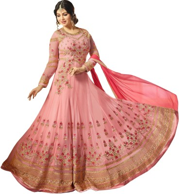 cfd352e09ed 66% OFF on YOYO Fashion Anarkali Gown(Pink) on Flipkart