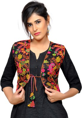 Banjara India Sleeveless Embroidered Women Jacket
