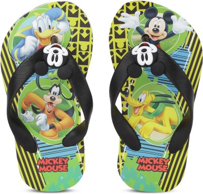 Minnie Girls Slip On Slipper Flip Flop(Black) at flipkart