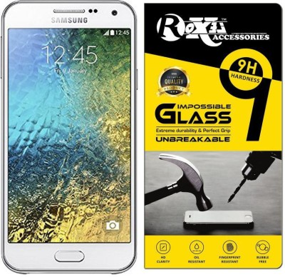 Roxel Impossible Screen Guard for Samsung Galaxy E5 (White,16GB)(Pack of 1)