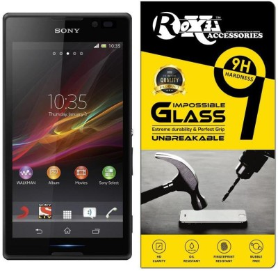 Roxel Impossible Screen Guard for Sony Xperia C (Black)(Pack of 1)