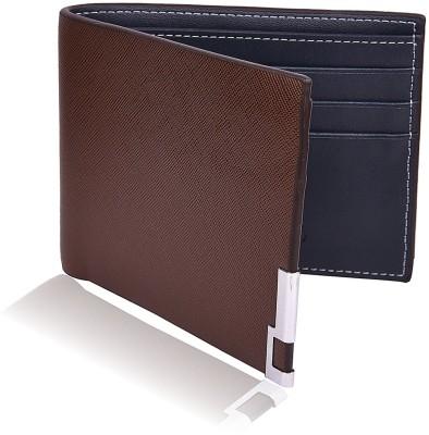 Bizarre Kraftz Men Brown Artificial Leather Wallet 5 Card Slots