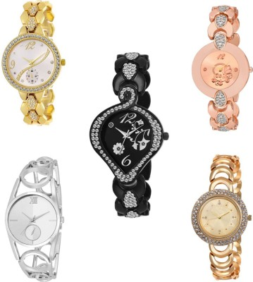 Only Deal multi five color stylish combo 5 Watch  - For Girls