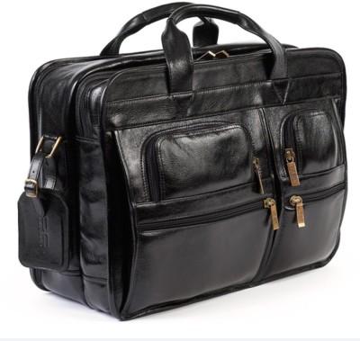 Leather Mark 003 Waterproof Messenger Bag Black, 10 L Leather Mark Laptop Bags