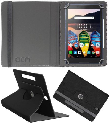 ACM Book Cover for Lenovo Tb3-710l(Black, Cases with Holder)
