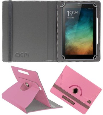 ACM Book Cover for Micromax Canvas Tab P701 Plus 7 inch(Pink, Cases with Holder)