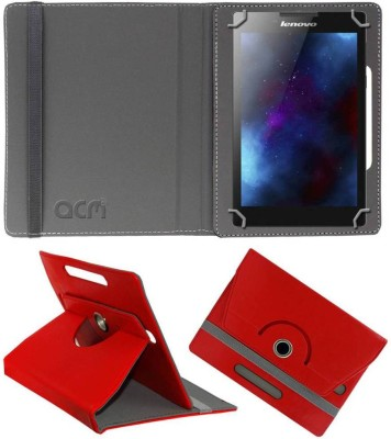 ACM Book Cover for Lenovo Tab 2 A7-30hc(Red, Cases with Holder, Artificial Leather)