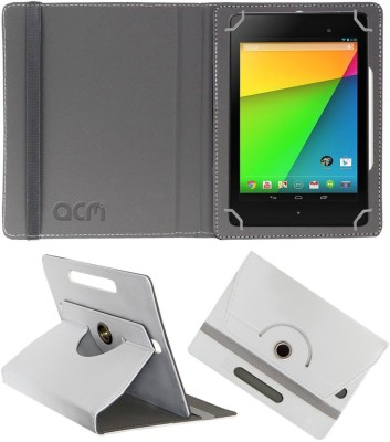 ACM Flip Cover for Asus Google Nexus 7c 2013(White, Cases with Holder)
