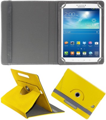 ACM Flip Cover for Samsung Galaxy Tab 3 T311(Yellow, Cases with Holder)