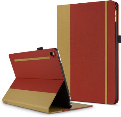 HATGA CASE Front & Back Case for Apple iPad 6th Gen 9.7 inch(Red,Gold12, Cases with Holder)