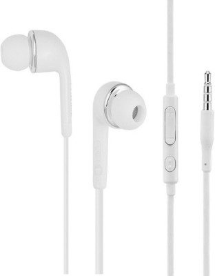 BUY SURETY Best Buy Powerful hd premium sound Wired Headset with Mic(White, In the Ear)