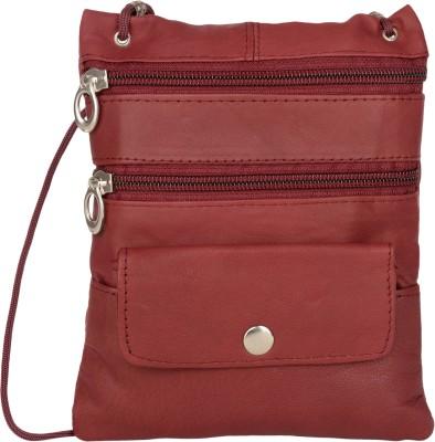 AspenLeather Maroon Sling Bag