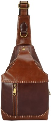 Ayesha Leather Works Hand made Hand Stitching Italian Leather Business Casual Shoulder Cross Body Bag, Exclusively Designed in Full Grain...