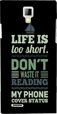 Snapdilla Back Cover for Micromax Canvas Xpress A99(Plain Background Crazy Funny Life Is Short Funky Quote Smartphone Case, Polycarbonate)