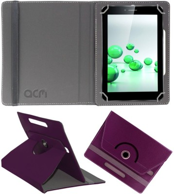 ACM Book Cover for iBall Slide 3G Q45(Purple, Cases with Holder)