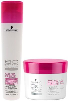 Schwarzkopf BC Bonacure Color Freeze Shampoo (250ml) + Hair Mask (200ml) (Pack of 2)(Set of 2)