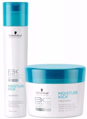 Schwarzkopf BC Bonacure Moisture Kick Shampoo (250ml) + Hair Mask (200ml) (Pack of 2)(Set of 2)