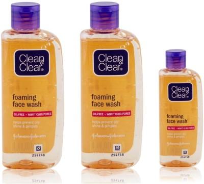 Clean & Clear Foaming Face Wash 150ml + 150ml + 50ml Face Wash(350 ml)