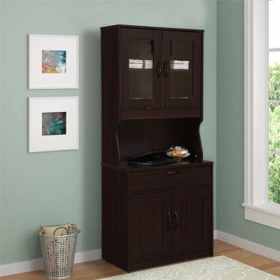 HomeTown Engineered Wood Crockery Cabinet(Finish Color - Walnut)