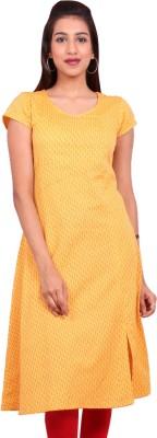 Estyle Casual Solid Women Kurti(Yellow)
