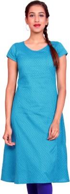 Estyle Women Solid A-line Kurta(Blue)