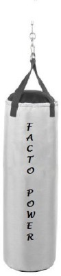 Facto Power 7.5 Feet Long, SRF - STANDARD Material, White Color, Unfilled with Hanging Chain Hanging Bag(7.5, 90 kg)