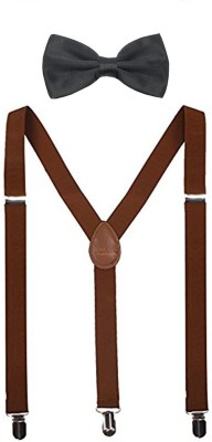 Civil Outfitters Y  Back Suspenders for Men, Women Brown