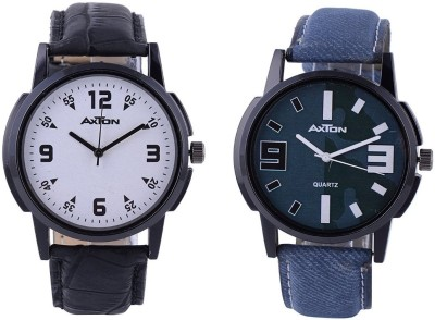AXTON AXG-6008 Analog Multicolor Dial Unisex Watch - (Pack of 2) Analog Watch  - For Men