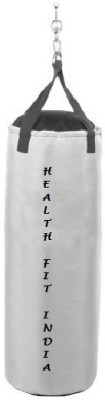 HEALTH FIT INDIA 2.0 Feet Long, SRF - STANDARD Material, White Color, Unfilled with Hanging Chain Hanging Bag(2.0, 24 kg)