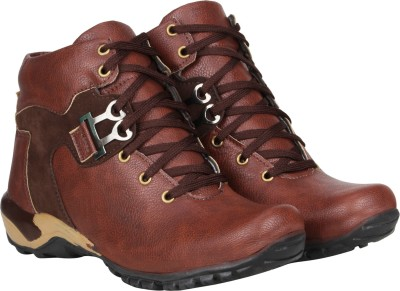 Kraasa The Rock Boots For Men(Burgundy, Brown