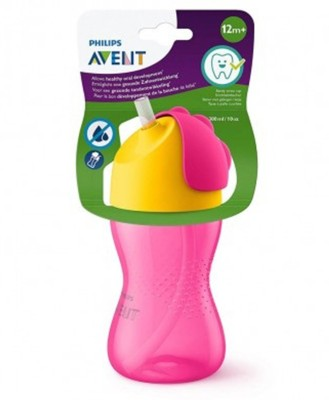 Philips Avent Sipper With Starw 300Ml/10Oz (12M+) (Pink)(Pink)