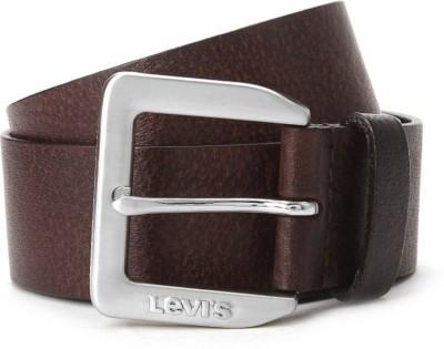 LEVI'SMen Casual Brown Genuine Leather Belt