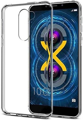 anjalicreations Back Cover for Lenovo K8 Plus Transparent, Rubber