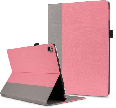 HATGA CASE Front & Back Case for Apple iPad 6th Gen 9.7 inch(Pink,Grey1, Cases with Holder)