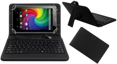 ACM Keyboard Case for Micromax Funbook Mini P410i(Black, Cases with Holder)