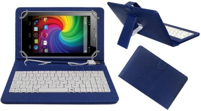 ACM Keyboard Case for Micromax Funbook Mini P410(Blue, Cases with Holder)