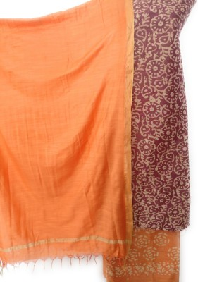 Grassroot Galery Cotton Silk Blend Floral Print Salwar Suit Material(Un-stitched)