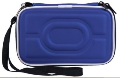 Gadget Deals Pouch for Seagate, Toshiba, WD, Sony, Transcend, Lenovo, ADATA, HP & Hitachi 2.5 inch External Hard Disks(Blue, Waterproof, Artificial Leather)