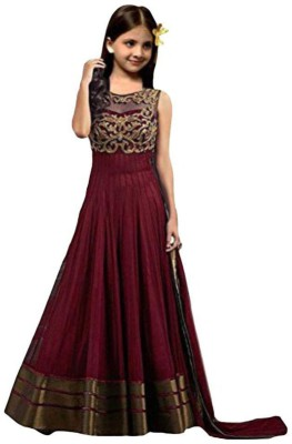 80cac039a 71% OFF on MF Retail Girl's Lehenga Choli Ethnic Wear Embroidered Lehenga,  Choli and Dupatta Set(Maroon, Pack of 1) on Flipkart | PaisaWapas.com