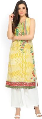 Biba Women Printed Straight Kurta(Multicolor)