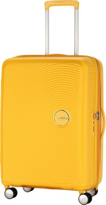American Tourister Curio Spinner Expandable  Check-in Luggage - 31 inch(Yellow)